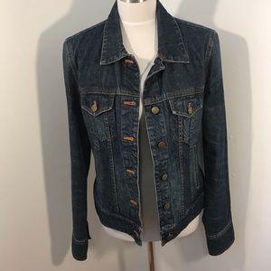J. Crew blue Denim Jacket Jean Dark Wash Size M